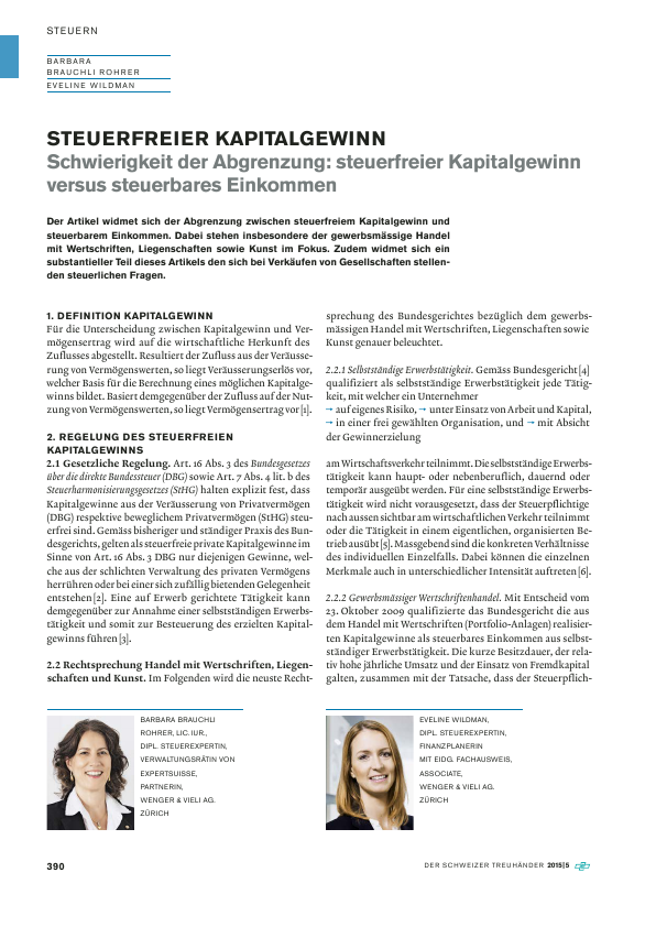 Brauchli Rohrer Barbara - Wenger & Vieli AG
